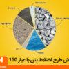 طرح اختلاط بتن با عیار 150 به وسیله بتونیر 250 لیتری