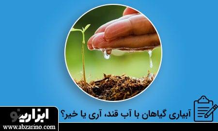 آبیاری گیاهان با آب قند